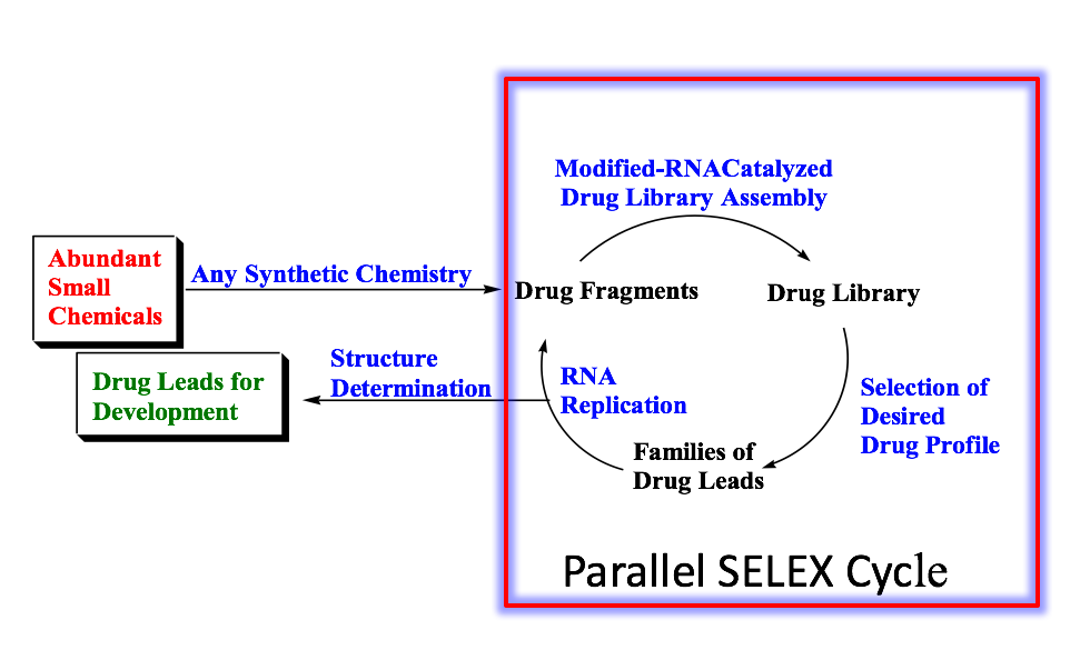 graphic depicting the cycle of small molecule discovery